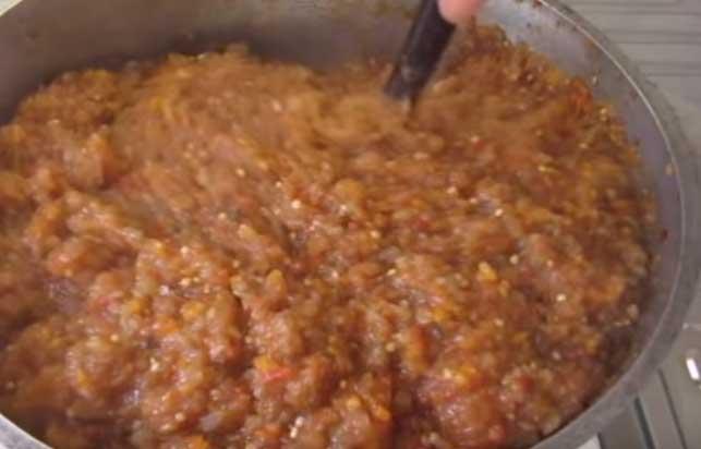 баклажанная икра из печеных баклажанов рецепт простой